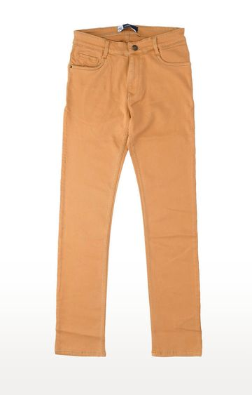 PARX | Light Brown Solid Straight Jeans