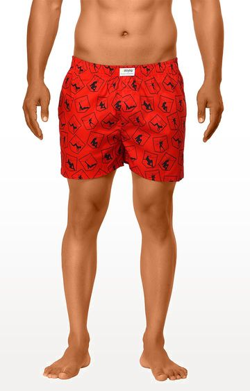 La Intimo | Red Printed Boxers
