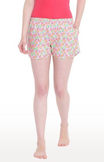 La Intimo   Multicoloured Printed Shorts