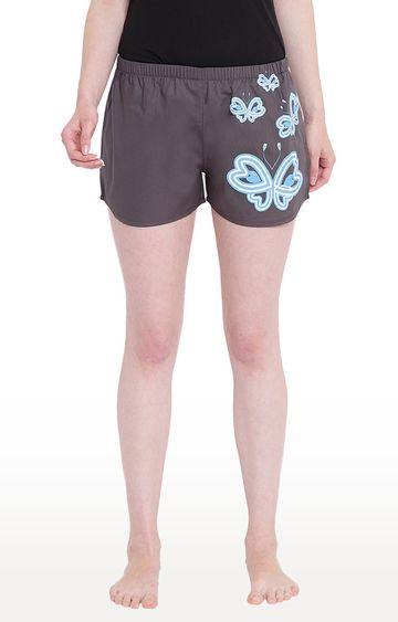 La Intimo | Grey Printed Shorts