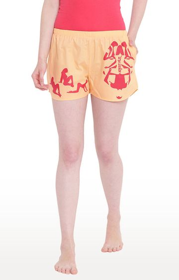 La Intimo | Peach Printed Shorts