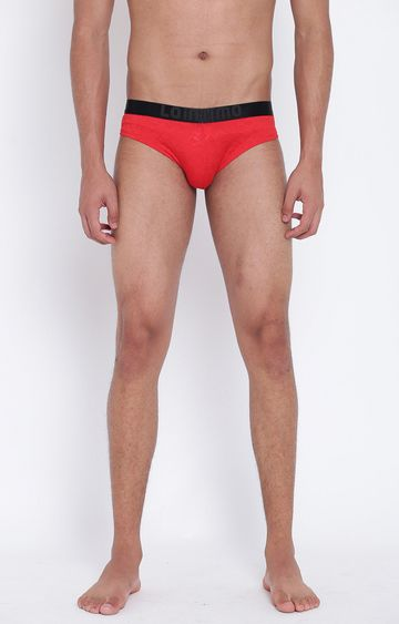 La Intimo | Red Solid Briefs