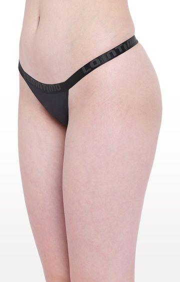 La Intimo | Black Aqua Vogue Thong Panty