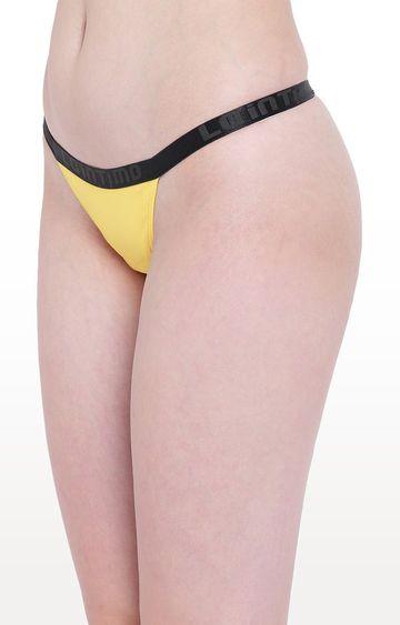 La Intimo | Yellow Aqua Vogue Thong Panty