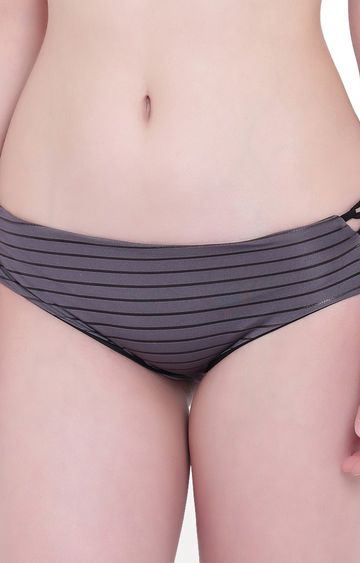 La Intimo   Petrol Grey Sea Show Panty
