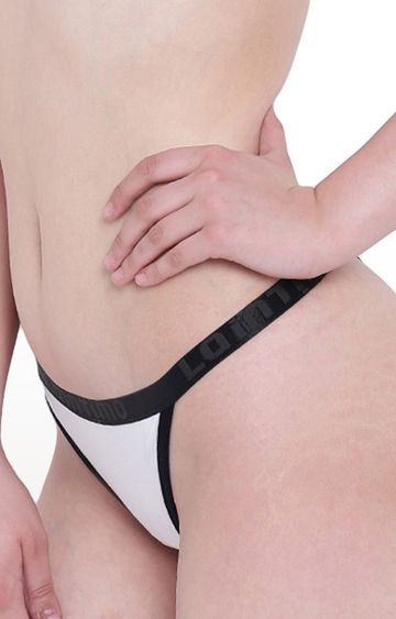 La Intimo | White Beach Pop Thong Panty