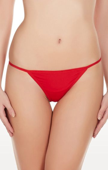 La Intimo | Red Hollywood No Coverge Thong Panty