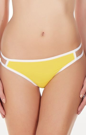 La Intimo | Yellow Gusset Thong