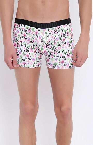 La Intimo | White and Pink Printed Trunks