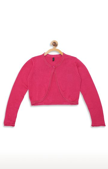United Colors of Benetton | Pink Solid Cardigan