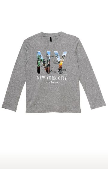United Colors of Benetton | Grey Printed T-shirt