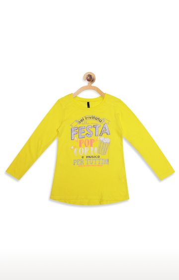 United Colors of Benetton | Yellow Printed T-Shirt