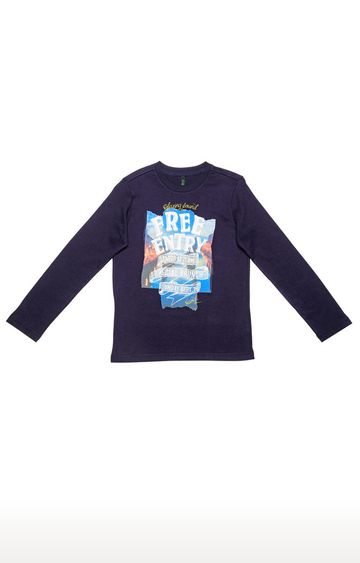 United Colors of Benetton | Navy Printed T-shirt
