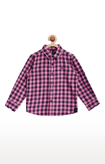 United Colors of Benetton | Pink and Black Checked Shirt