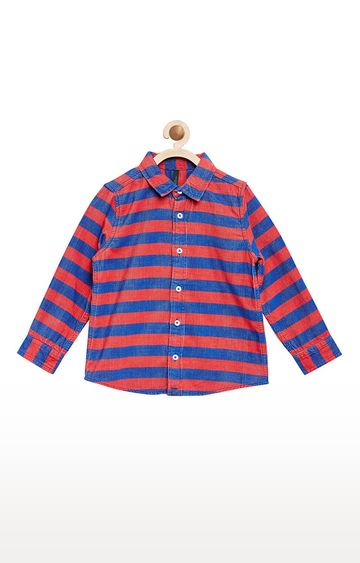United Colors of Benetton | Red and Blue Striped Shirt