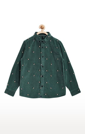 United Colors of Benetton | Green Printed Shirt