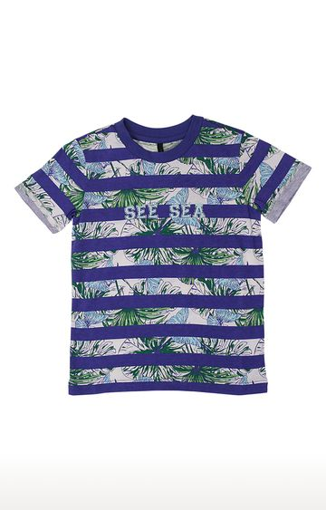 United Colors of Benetton   Blue Printed T-Shirt
