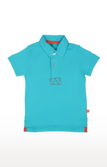 United Colors of Benetton   Teal Solid T-shirt