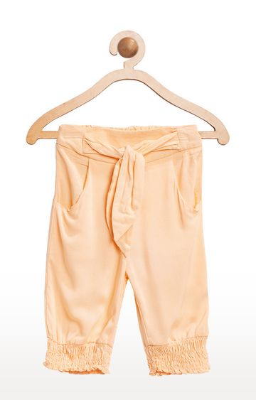United Colors of Benetton   Light Orange Solid Trousers