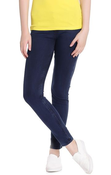 United Colors of Benetton   Blue Solid Skinny Fit Jeans