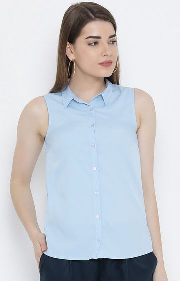 United Colors of Benetton | Blue Solid Casual Shirt