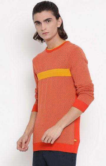 United Colors of Benetton | Orange Printed Sweater