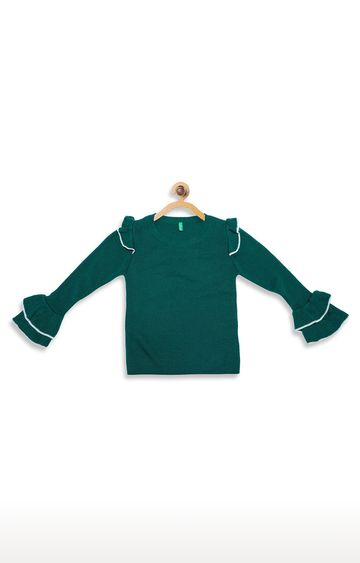 United Colors of Benetton | Green Solid Top