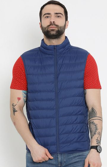 United Colors of Benetton | Blue Solid Gilet
