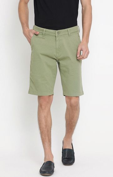 United Colors of Benetton | Olive Printed Shorts