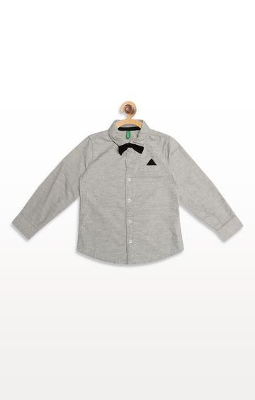 United Colors of Benetton | Light Grey Striped Shirt