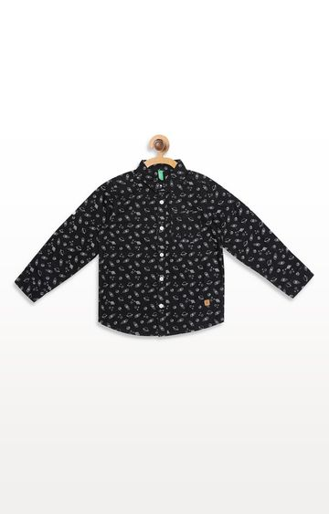 United Colors of Benetton   Black Printed Shirt