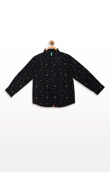 United Colors of Benetton | Black Printed Shirt