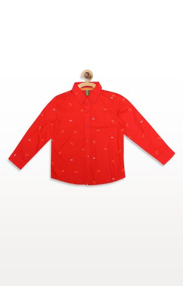 United Colors of Benetton | Orange Printed Shirt