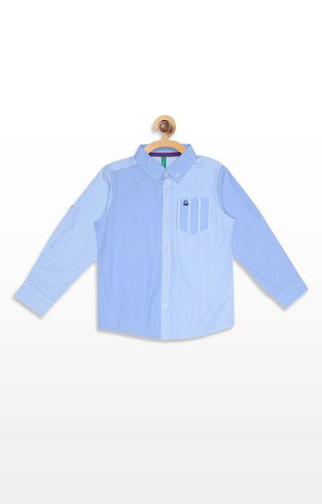 United Colors of Benetton | Blue Striped Shirt