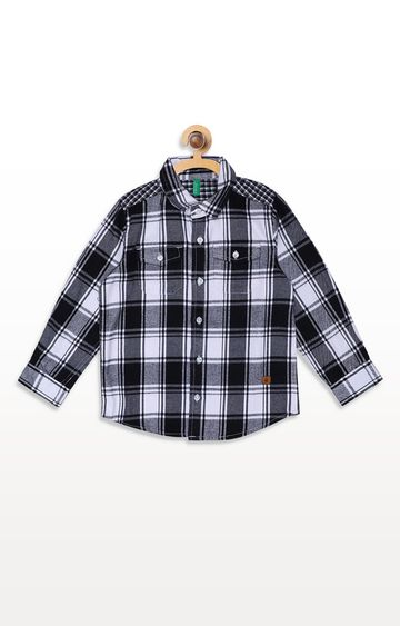 United Colors of Benetton   Black Checked Shirt