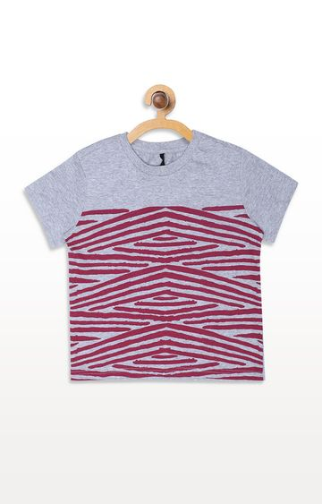 United Colors of Benetton | Grey Striped T-shirt