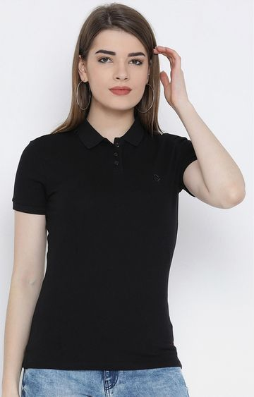 United Colors of Benetton | Black Solid T-Shirt