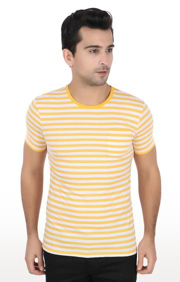 United Colors of Benetton | Yellow Striped T-Shirt