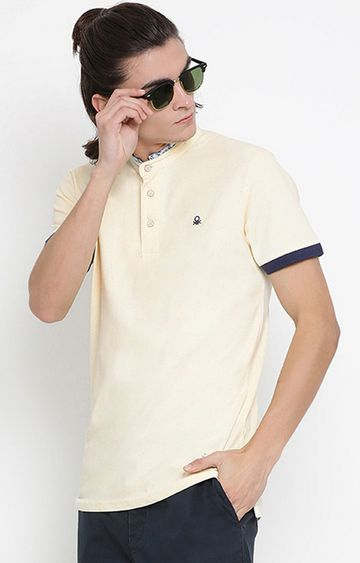 United Colors of Benetton | Yellow Solid Polo T-Shirt