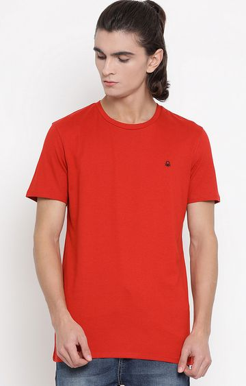 United Colors of Benetton | Red Solid T-Shirt