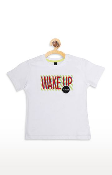 United Colors of Benetton | White Printed T-shirt