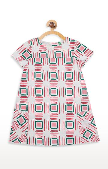 United Colors of Benetton | Pink Printed Dress