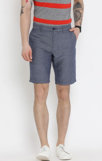 United Colors of Benetton | Blue Solid Shorts