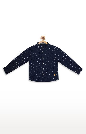 United Colors of Benetton | Blue Printed Shirt