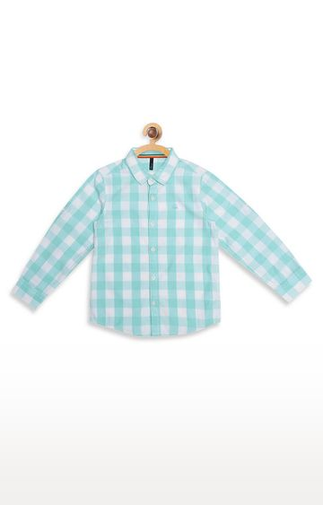 United Colors of Benetton   Blue Checked Shirt