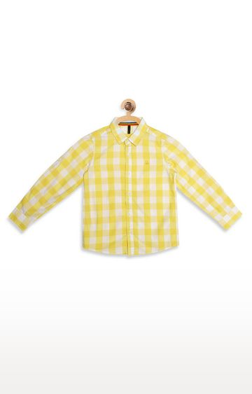 United Colors of Benetton | Yellow Checked Shirt