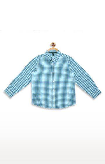 United Colors of Benetton | Blue Checked Shirt