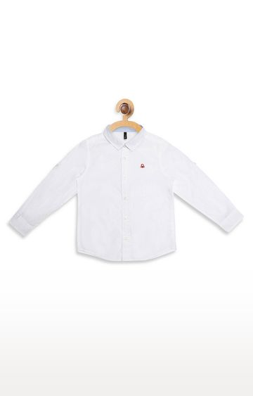 United Colors of Benetton | White Solid Shirt