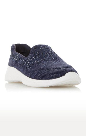 Dune London | Navy Easy Slipper Casual Slip-ons