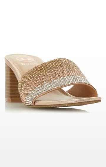 Dune London   Rose Gold Jombre DI Block Heels